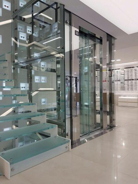 Ascenseur vitré Afflelou