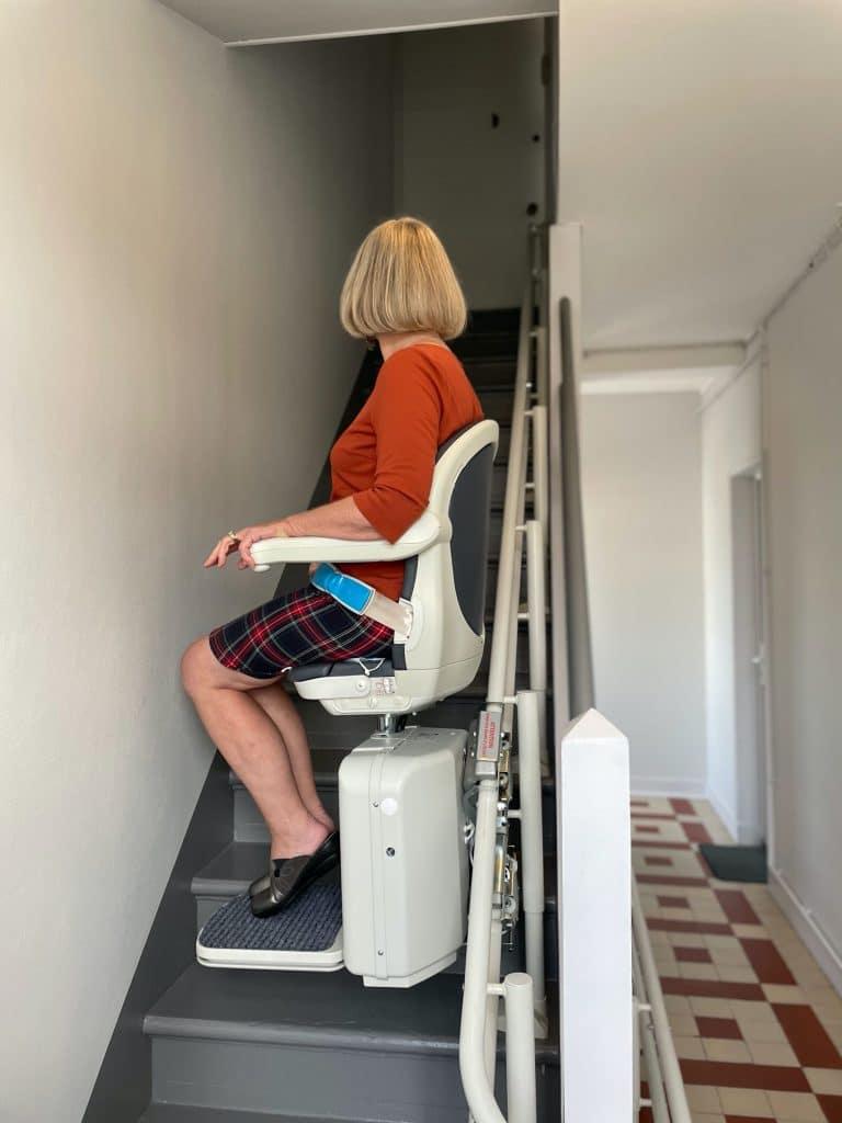 Installation d'un monte-escalier 3 niveaux