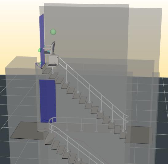 Plan installation monte-escalier